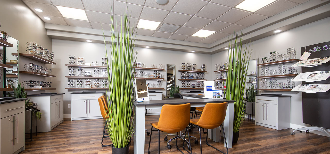 Lobby and Eyewear at ProView Eye Care Optometry