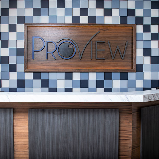 front desk at ProView Eye Care Optometry