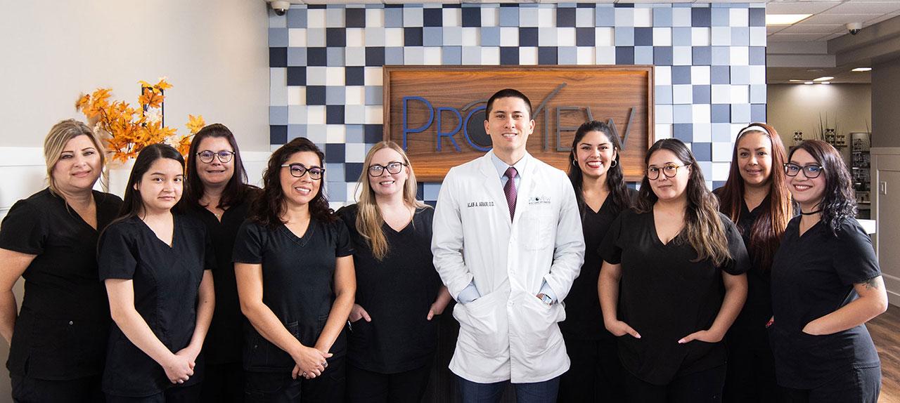 proview eye care optometry front door